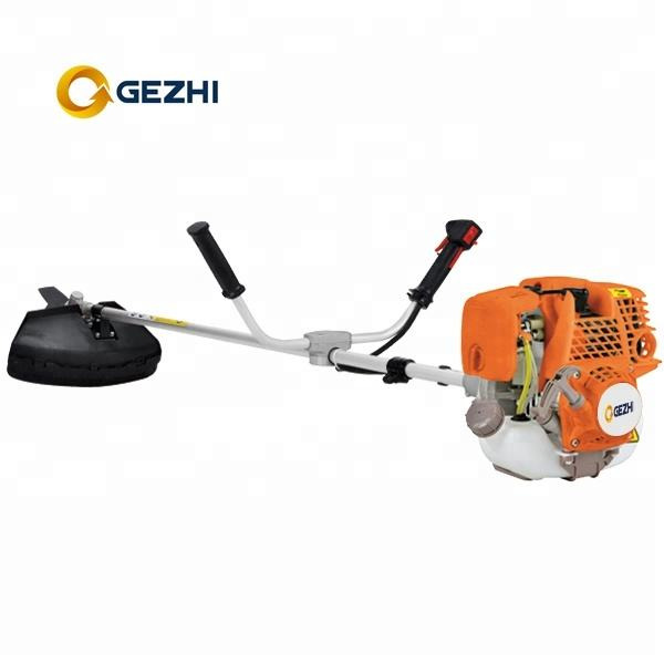 newest gas 4 stroke brush cutter with 3T metal blade or nylon cutter 35.8cc CE approved agricultural