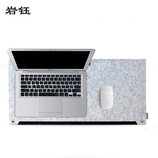 Heated felt desk sets mat writing pad table mat mouse pad With Wrist Rest