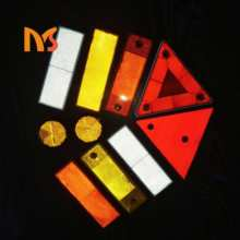 ABS Plastic Reflective High Visibility Warning Sticker Adhesive Back Automotive Reflector For Cars Trucks