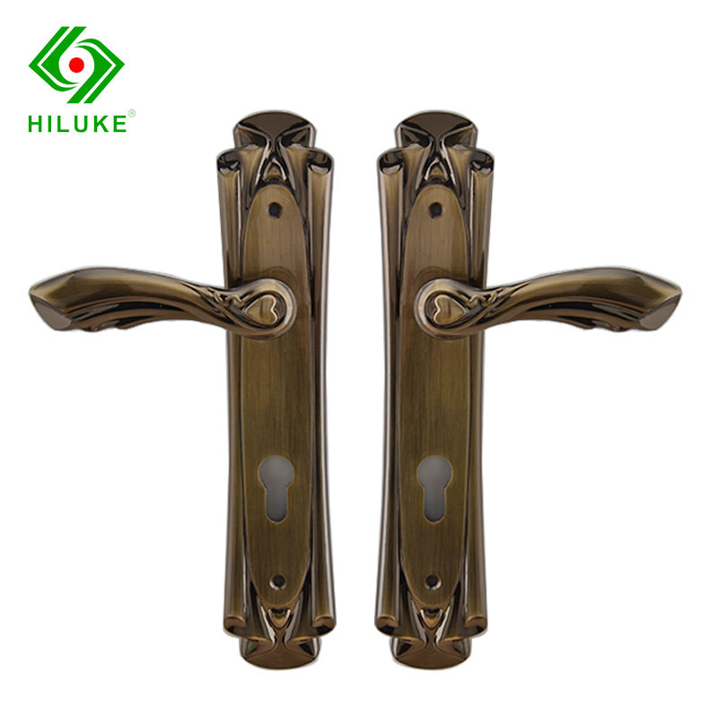 HILUKE Antique zinc alloy Door Handle with long plate