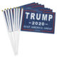 Day Hand Held Stick Flags Donald Trump President Make America Great for Election Day