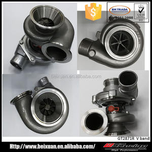 Inconel dual BALL BEARING V band Turbo Charger billet คอมเพรสเซอร์ล้อ GT28 GT2871