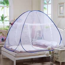 100% polyester portable pop up folding Mongolia mosquito net for double bed
