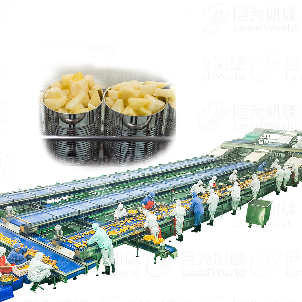 full automatic fruits and vegetables yellow peach pineapple canned food processing machine