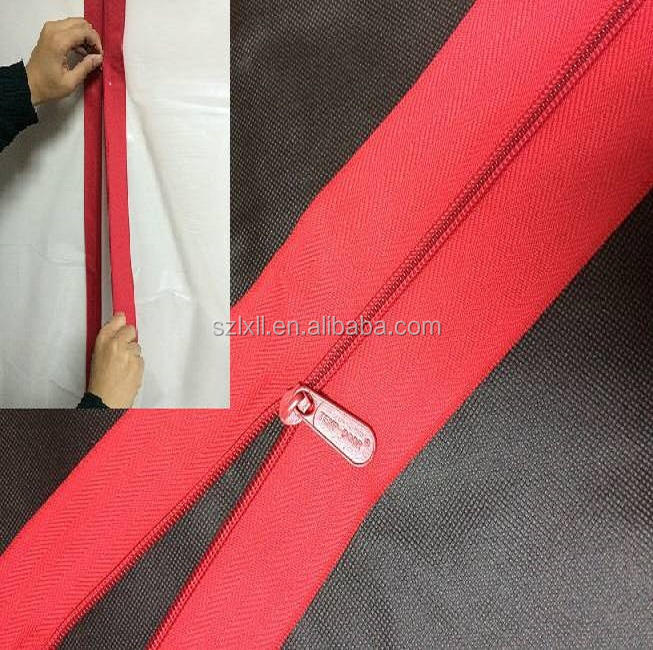 3''X7' 7.6X213cm Dust barrier Self Adhesive Zipper for cleaning and restoration