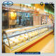 Single-temperature Display Food Counter Display Cooler Deli Food Showcase of Service Counter Type