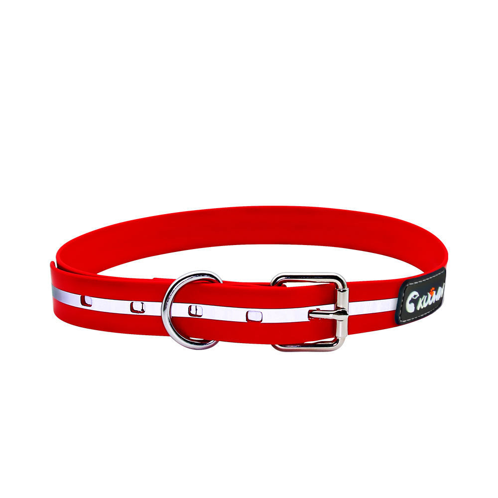custom Waterproof Traction rope PVC Coated Reflective Clean Dog Collars for pet products