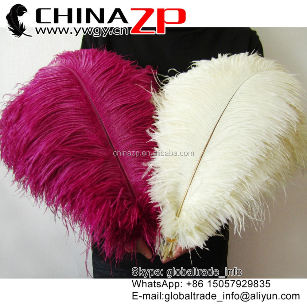 Trade Assurance Gold Supplier Size from 16 to 18inch White Ostrich Feathers for Party and Wedding Centerpieces
