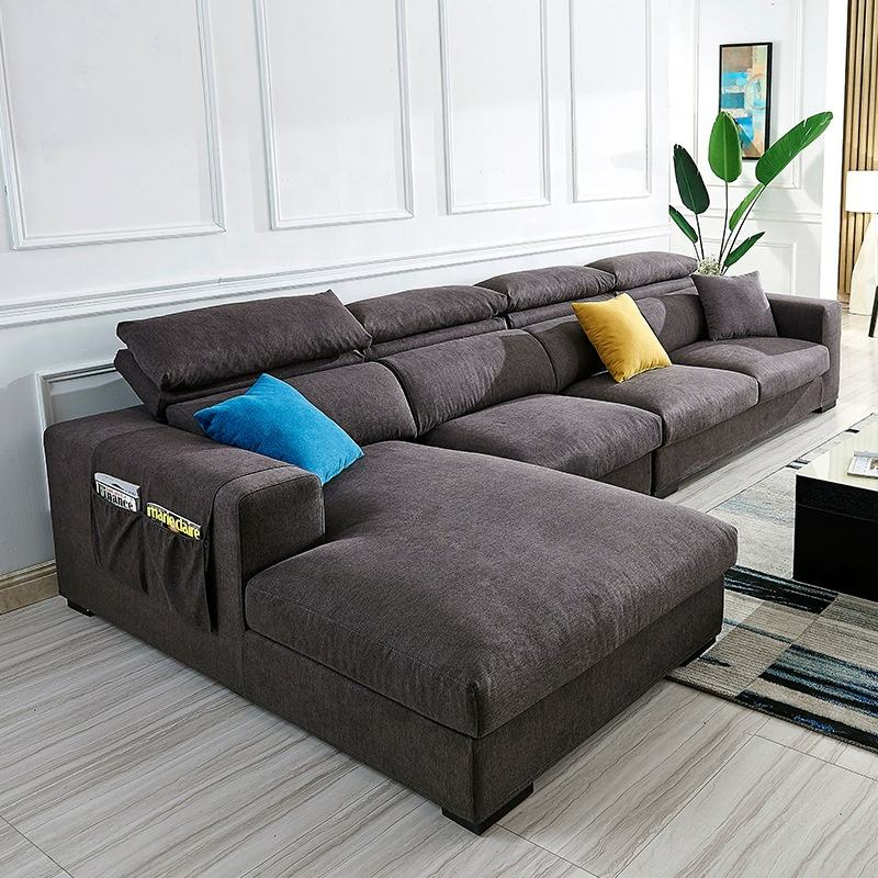 2019 Latest Fashion Morden multi-function Latex Sofa Italian Lifestyle Simple Fabric Sofa Furniture