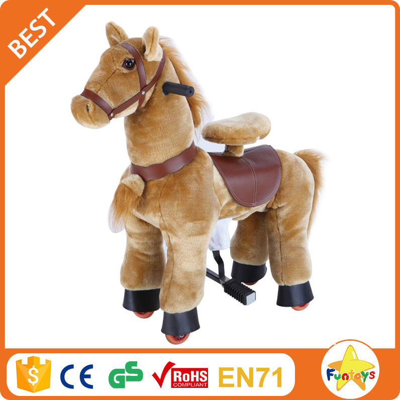 Funtoys CE mechanical running horse toys