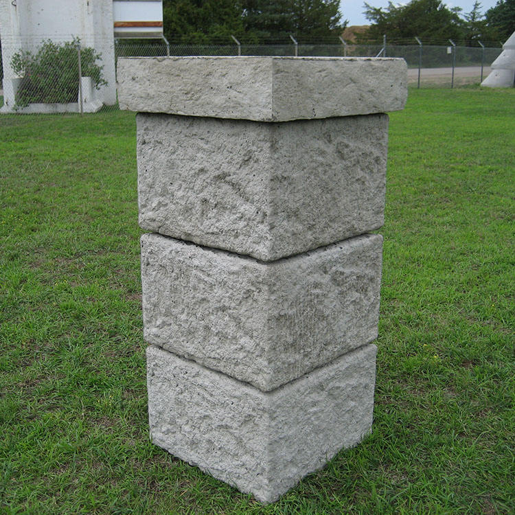 Outdoor Decoration Cover Round Granite Column