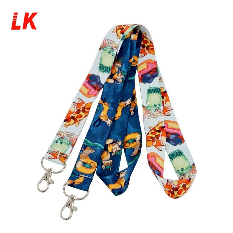 Wholesale Personalized Anime Printed Custom sublimation Lanyards With Logo Custom
