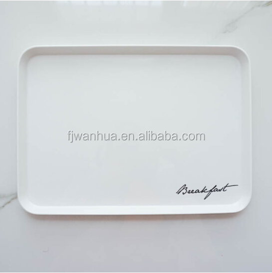 Melamine breakfast plastic serving trays