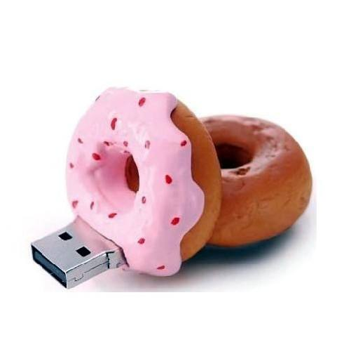 custom food shape usb, food shape PVC donut usb flash drive
