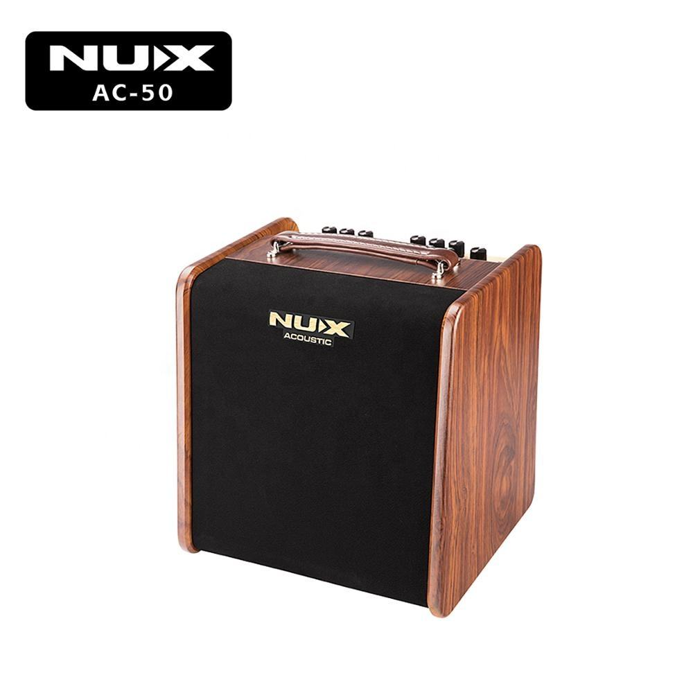 NUX Stageman AC-50 profession analog acoustic guitar amplifier and guitar speaker with Ambient EFX