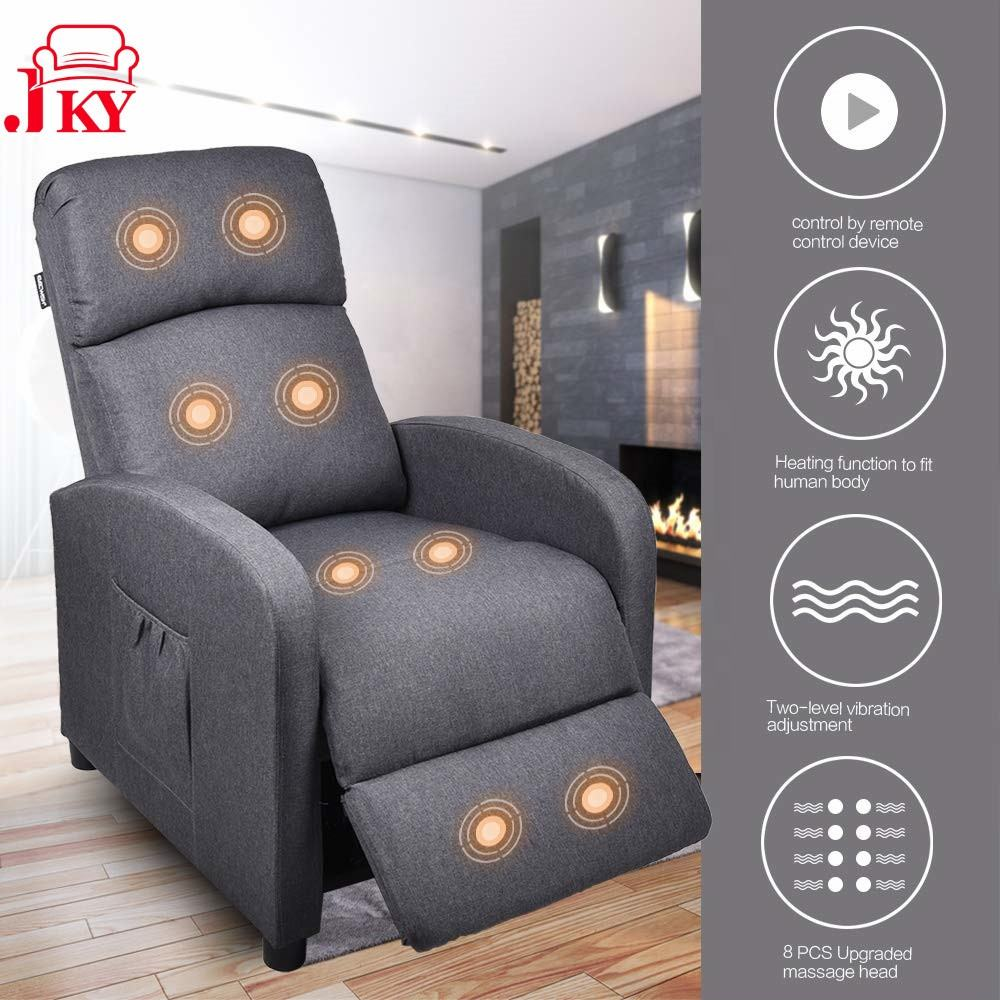 JKY Furniture Comfortable Multifunctional Heated Massage Recliner Chair
