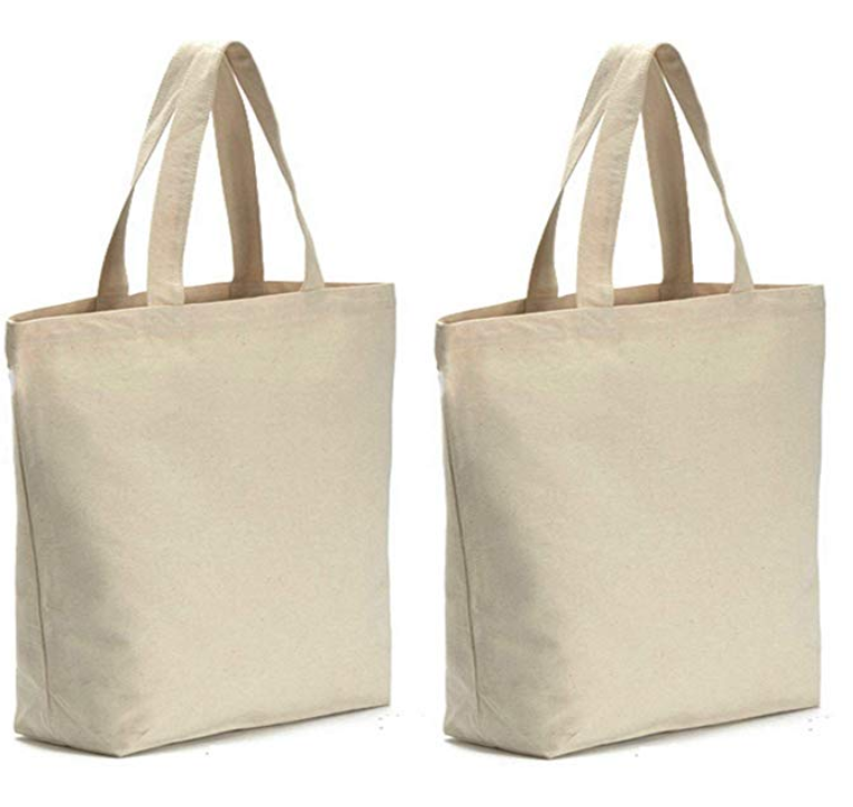 도매 Strong Heavy Duty 빈 키 빈 Canvas Shopper Extra 큰 면 Tote 식료품 Bag