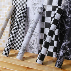 Modern PVC lattice self-adhesive wallpaper waterproof thick wall stickers  Bathroom Wall Sticker Kitchen Bar Decorative