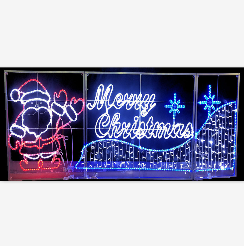 merry christmas led lighted sign