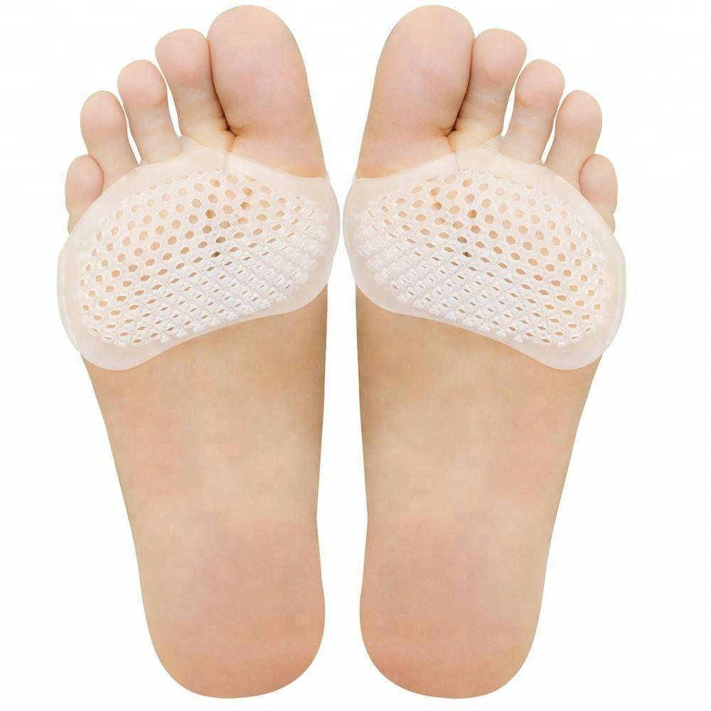 1 Pair Soft Gel Metatarsal Pad Foot Care Pain Relief Ball Of Forefoot Cushion Pad