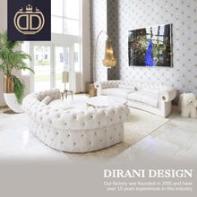 Italian design white velvet living room tufted sofa set customized post modern chesterfield sofa fabric button tufted sofas