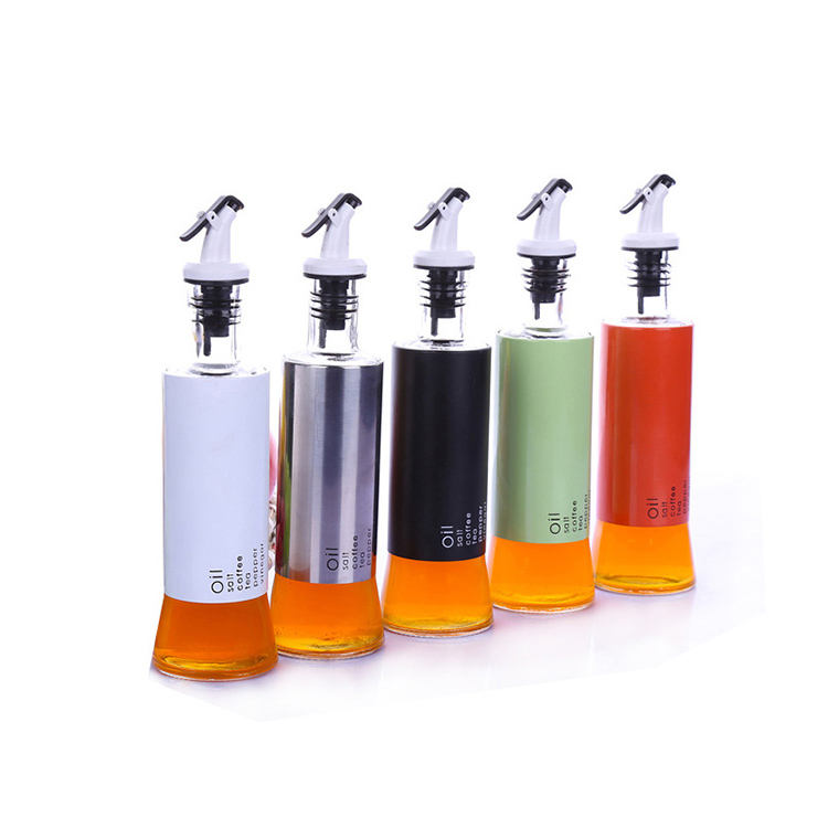 Cooking Seasoning Bottle Dispenser Sauce Bottle Glass Storage Bottles For Oil and Vinegar Creative Kitchen Tools Accessories