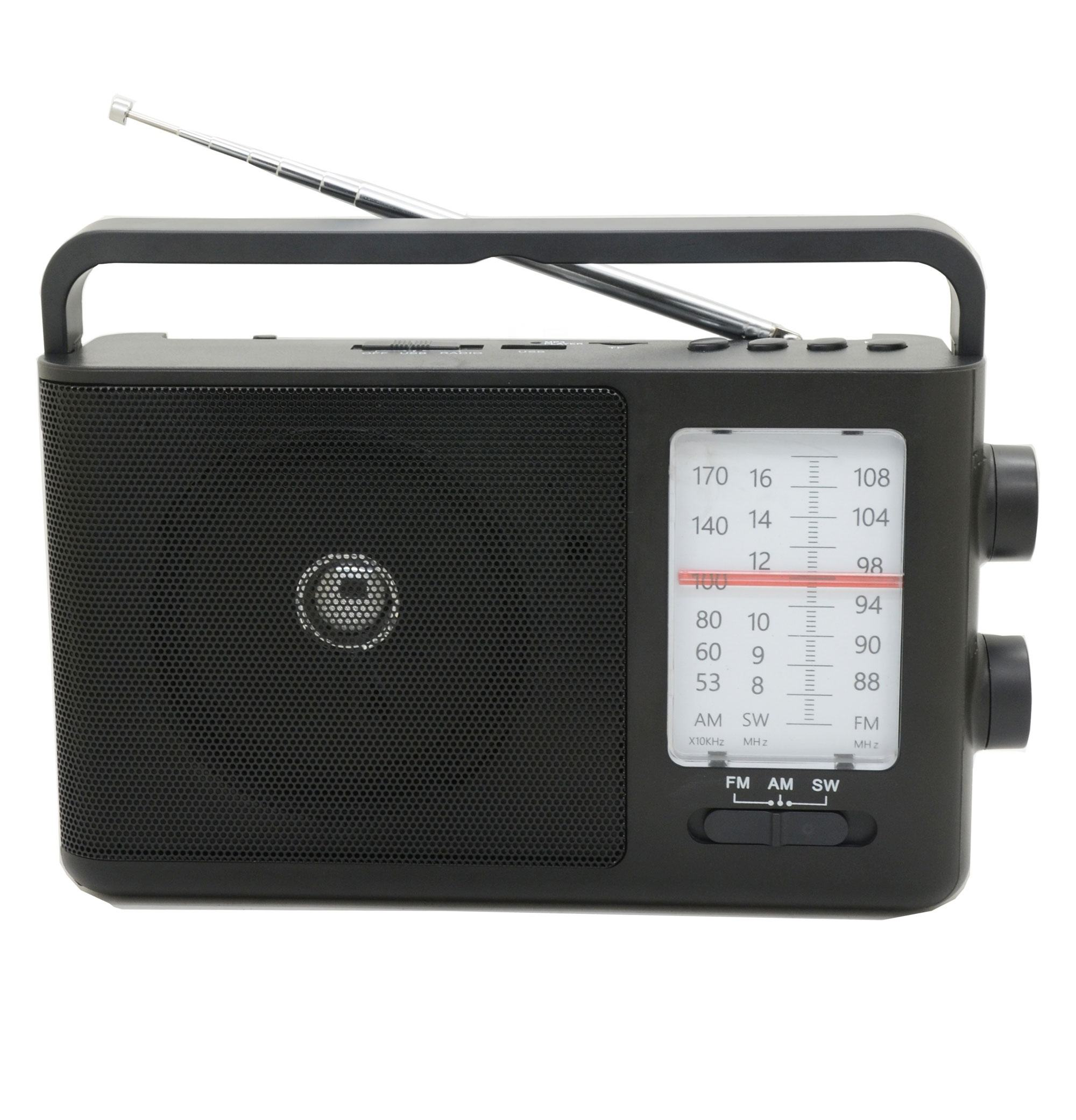 Low MOQ Home Radio With USB SD AND Rechargeable Battery