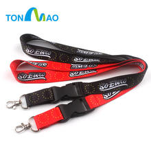 Custom printing neck lanyard office works release buckle flash drive usb lanyard