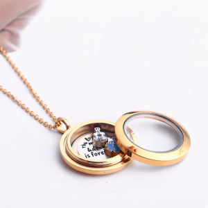 도매 Hope Small 상자 Necklace Retro Heart 모양의 (gorilla Glass) 메모리 Small 상자 Heart Floating Charm 펜 던 트