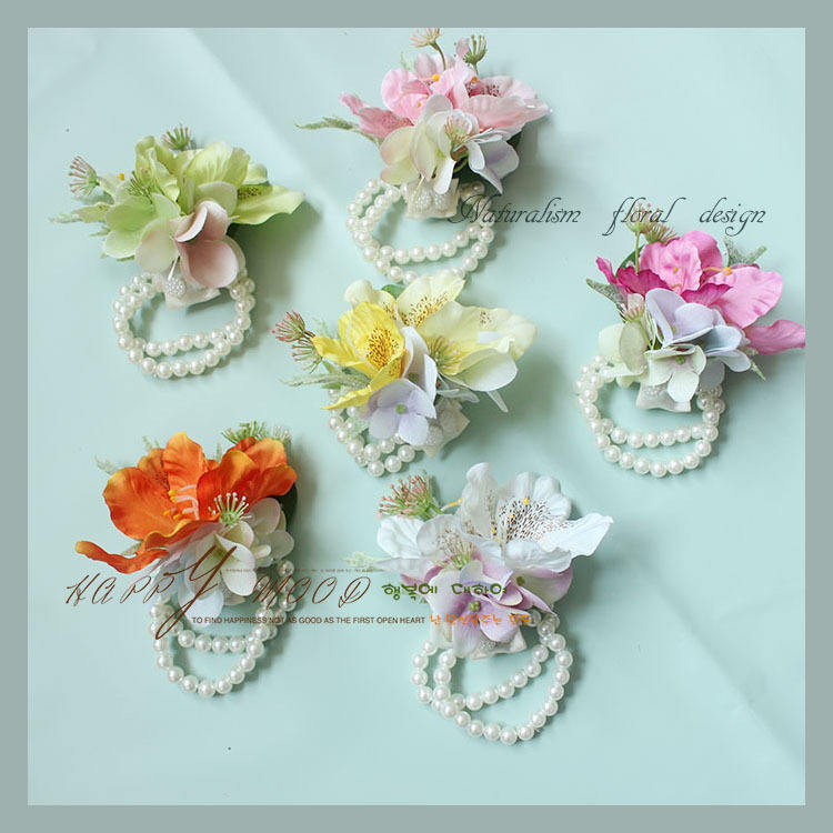 LBF029 Luckygoods supply pink artificial flower corsage