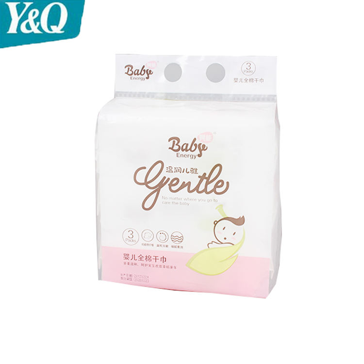 Eco-friendly Spunlace Tissues Disposable Tender Dry Facial Wipes