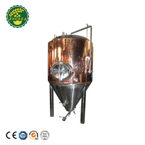 Copper Cladding Stainless Steel Glycol Jacket Conical Fermenter