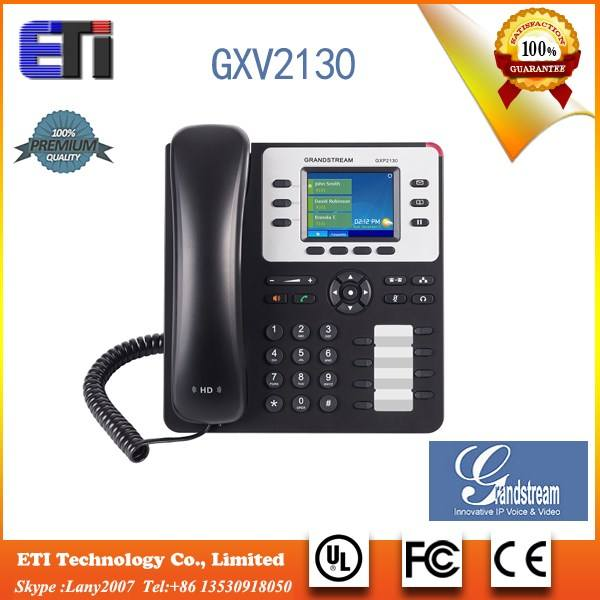 Grandstream GXP2130 3 lines 2.8 inch sip ip phone with PoE EHS Dual gigabit port