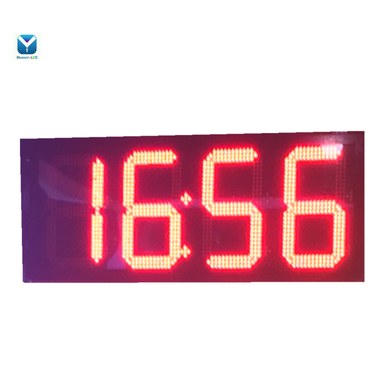 red /green led clock screen /outdoor led clock time date temperature sign 88:88 time and temp led timer