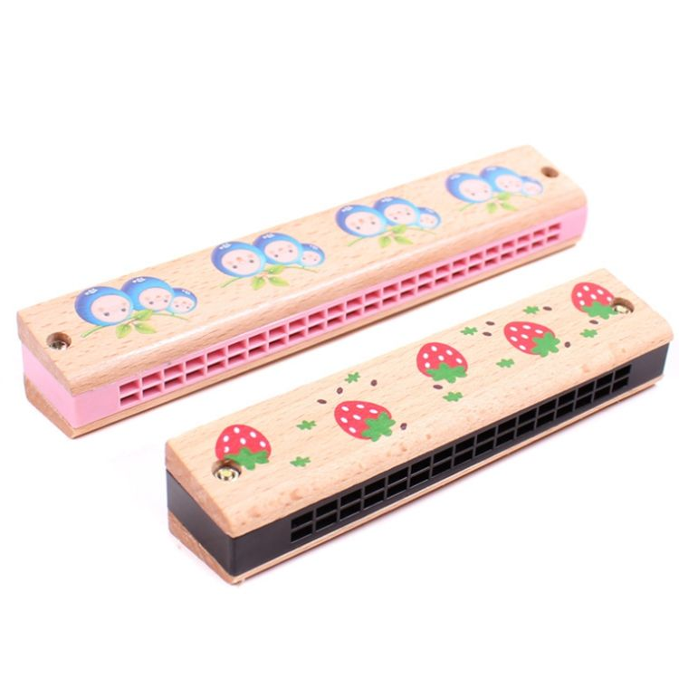 Wholesale hot selling 16/24 hole cheap price wooden Harmonica