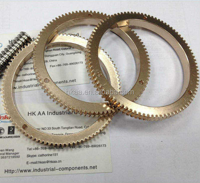 china OEM factory brass ring gear, worm gear