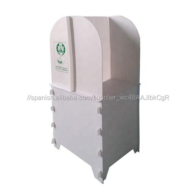 Soporte de dos votantes votación plegable de plástico corrugado elección estación booth para Indonesia elección
