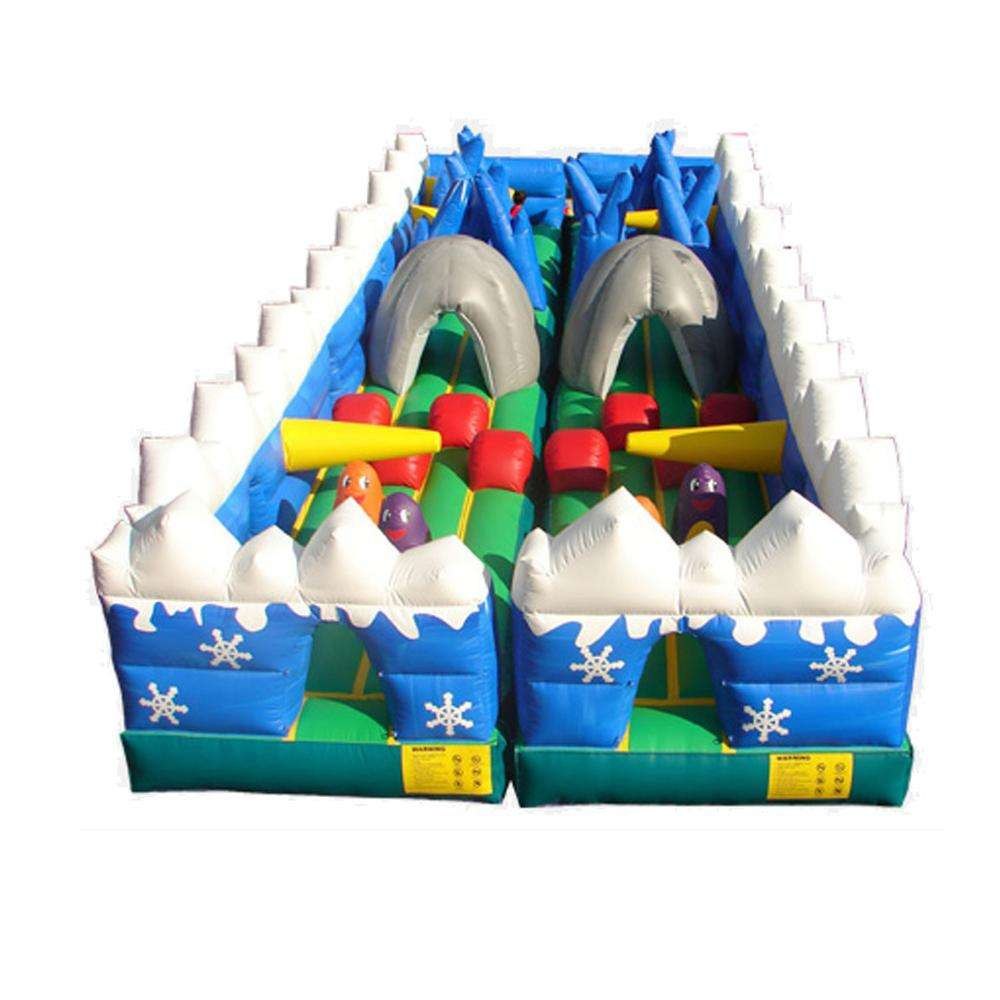 Hot sale playground obstacle course giant inflatable games for kids playing