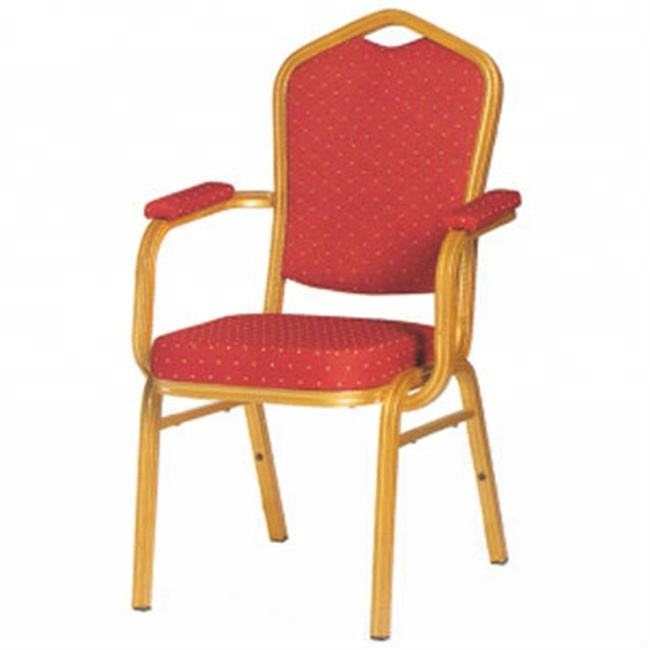 Hotel Banquet Chair with Arm Dining Armrest Chair Upholstered Restaurant Chairs for Sale