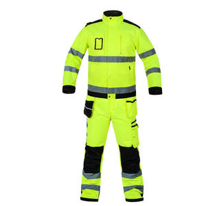 Direct factory price Reflective stripe anti-static protective safety breathable work wear uniform