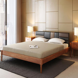 Wholesale modern luxury bedroom furniture set king size solid wood bed for sale
