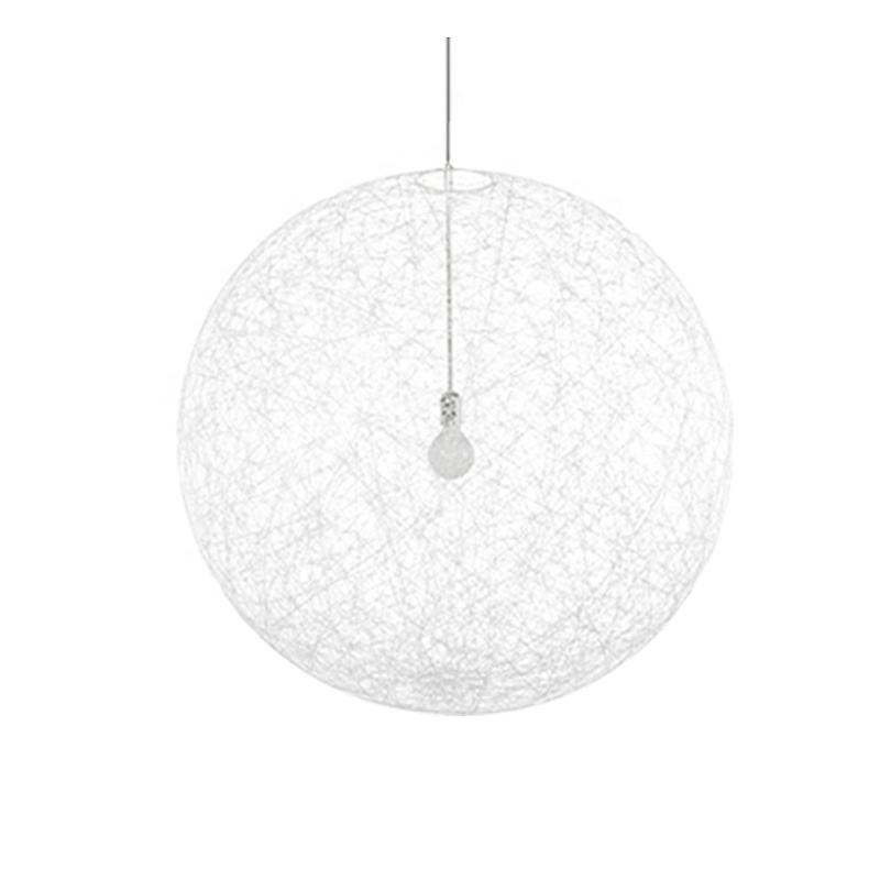 Nordic Lighting Modern Simple Living Room Dining Room Single Head Hanging Lamp Individual Mahjong Tennis Ball Circular Hanging L