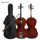 Gloss red brown cheap price beginner cello for students
