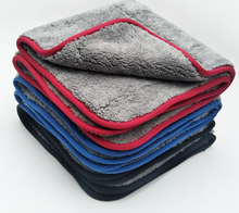 Wholesale 1000gsm Plush Thick microfibre car cleaning cloth microfiber coral fleece towel