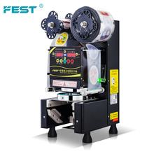 FEST Factory Wholesale Bubble Tea Equipment Fully Automatic Cup Sealing Machine Plastic Cup Sealer Machine 110V/220V