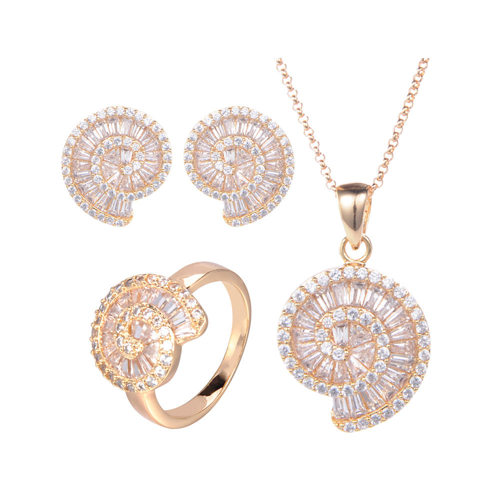 14 18k 18 18k 24 18k Costume Designs Diamond Gold Jewelry Set Rose Real Gold European Fashion Jewelry Sets Women Necklace