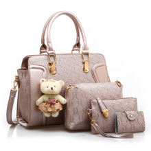 Fashion designer emboss leather bag, wholesale ladies handbag china