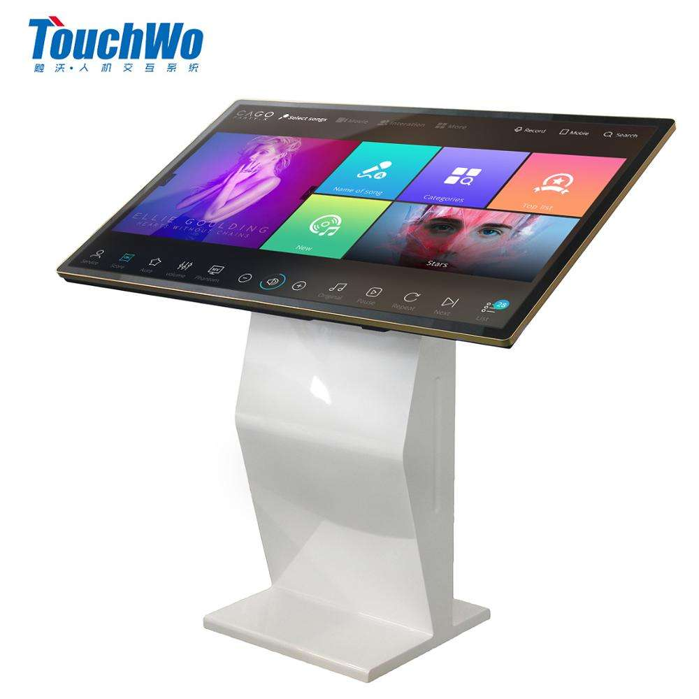 43inch multi touch screen terminal all in one pc / information kiosk with floor stand