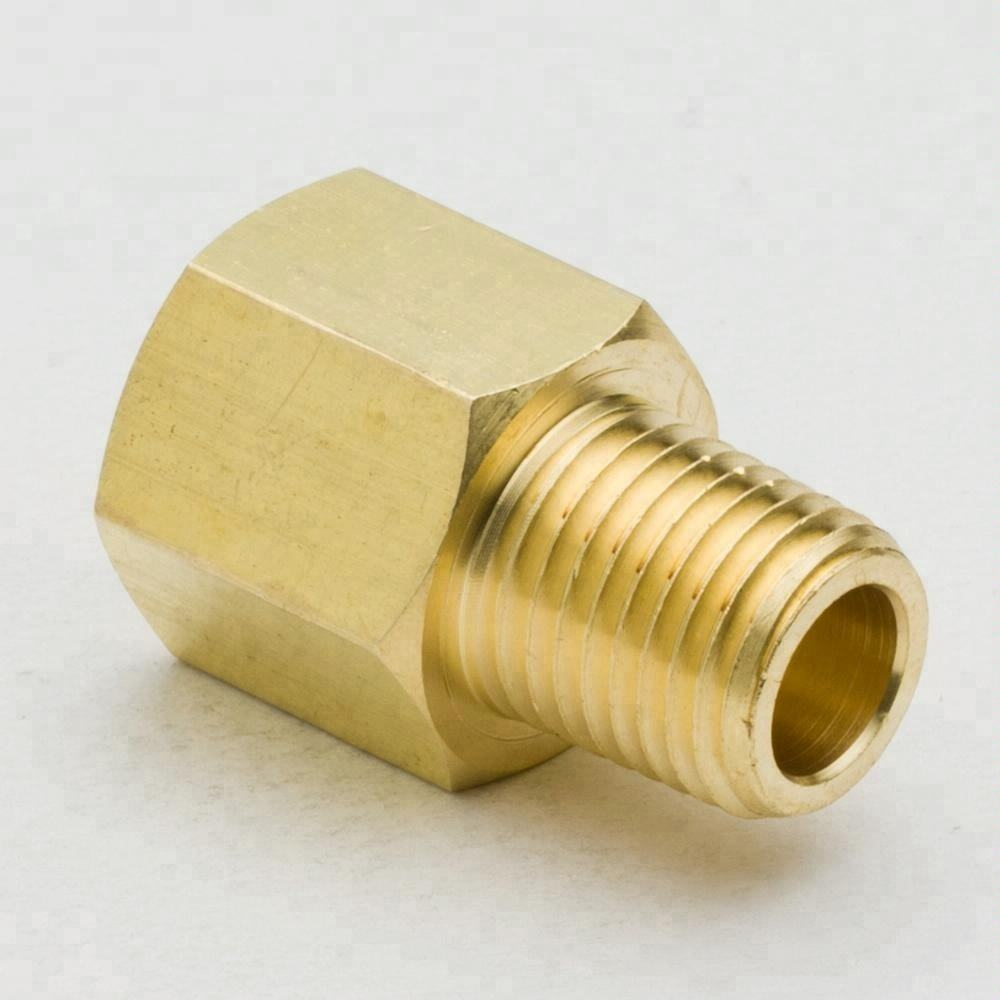 "Brass Pipe Hose Fitting, Brass Adapter, 1/8""x1/8"" NPT Female to Male Thread"