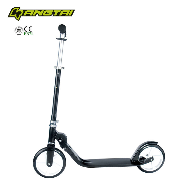 2016 hot selling 2 big 200mm wheel adult urban town roller kick foot scooter with suspension for sale